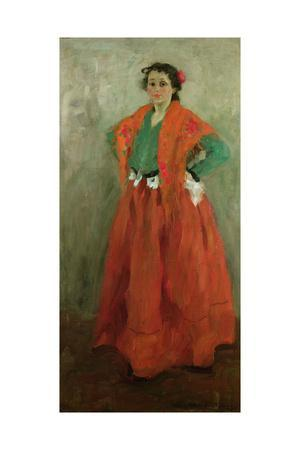 The Artist's Wife Dressed as a Spanish Woman, C.1901