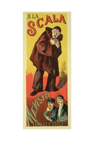 Reproduction of a Poster Advertising 'Mevisto', at La Scala, 1891