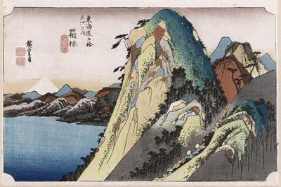 The Lake at Hakone, from 'Fifty-Three Stations of the Tokaido'