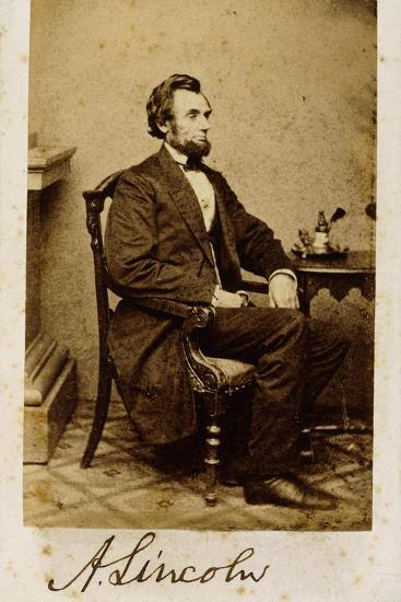 A Signed Carte De Visite Photograph Of Abraham Lincoln 1861 Giclee Print By Alexander Gardner At AllPosters