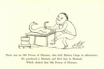 There Was an Old Person of Florence, Who Held Mutton Chops in Abhorrence