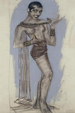 Josephine Baker - a Maquette for an Important Lacquer Panel, C.1927
