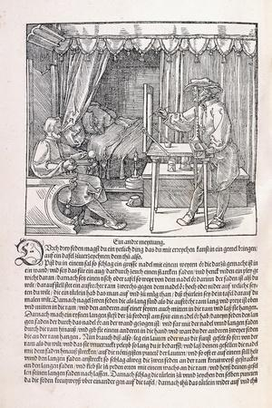 A Draughtsman Drawing a Portrait, Using a Drawing Frame, 1525
