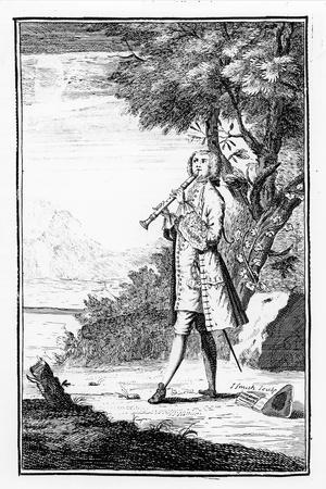 Recorder Player, from 'Modern Music Masters', Engraved by J.Smith, 1731