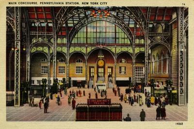 Pennsylvania Station, Main Concourse, New York City, C.1910-30