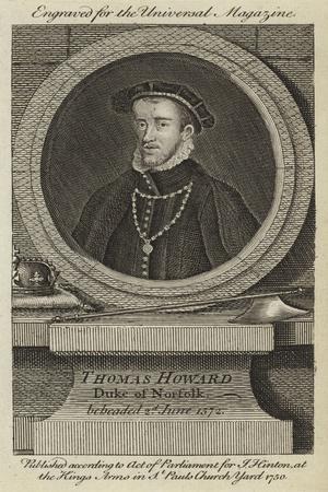 Thomas Howard, Duke of Norfolk, Beheaded 2nd June 1572