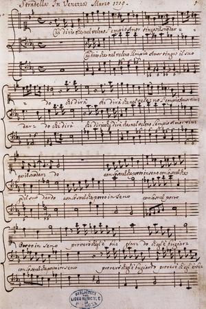 Autograph Sheet Music of a Cantata
