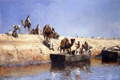 An Embarkment of Camels on the Beach at Sale, Maroc, 1880