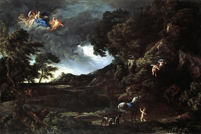 Landscape with the Union of Dido and Aeneas, C.1664-48