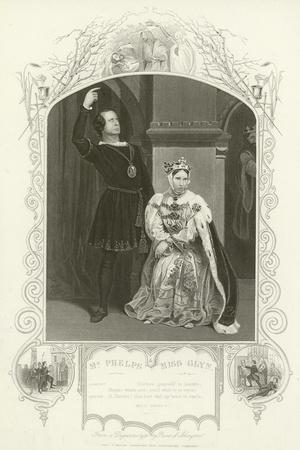 Mr Phelps as Hamlet and Miss Glyn as Queen, Hamlet, Act III, Scene IV