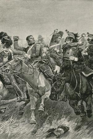 The Gallant Charge of the Scots Greys at the Battle of Waterloo