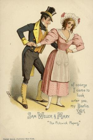 Sam Weller and Mary, from the Pickwick Papers