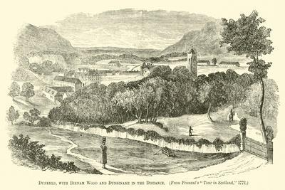 Dunkeld, with Birnam Wood and Dunsinane in the Distance