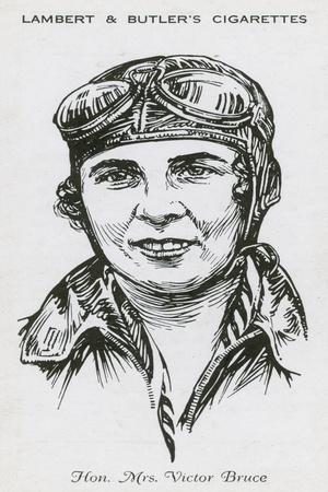 Mrs Victor Bruce, English Aviator, Racing Driver and Speedboat Racer