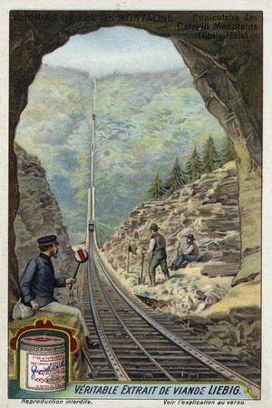 Funicular Railway in the Catskill Mountains, New York, Usa