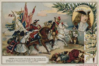 Trade Card with an Image Depicting the Battle of Villaviciosa