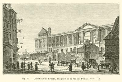 Colonnade Du Louvre, Vue Prise De La Rue Des Poulies, Vers 1758