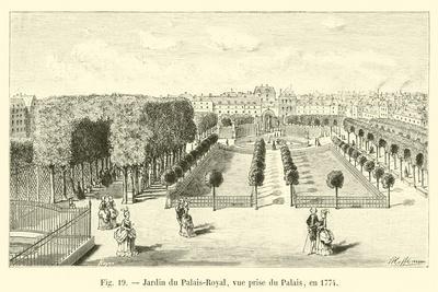 Jardin Du Palais-Royal, Vue Prise Du Palais, En 1774