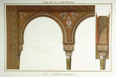 Details of the Arches in the Sala De Los Abencerages, 1839