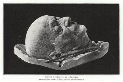 Death Mask of Pierre-Jean De Beranger, French Poet and Songwriter