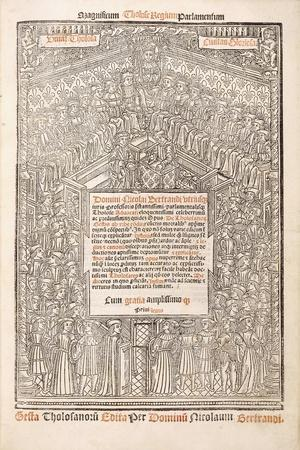 Title-Page Showing the Parliament of Toulouse, 1515