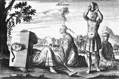 Chinese Mendians Performing Self-Inflicting Acts, 1664