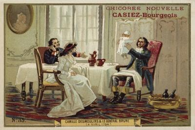 Camille Desmoulins and General Brune, French Revolution, 4 April 1794