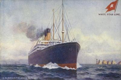 White Star Line Liner RMS Adriatic Passing the Needles, Isle of Wight