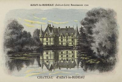 Chateau D'Azay-Le-Rideau, Azay-Le-Rideau, Indre-Et-Loire