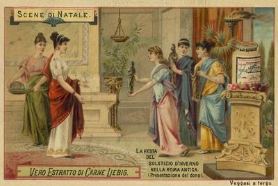 Presenting a Gift, Festival of the Winter Solstice in Ancient Rome