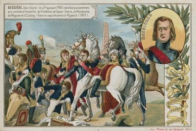 Trade Card with an Image Depicting Napoloen Bonaparte at Ratisbonne