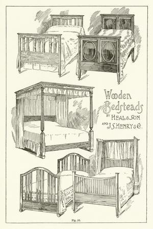 Wooden Bedsteads, by Heal and Son and J S Henry and Company