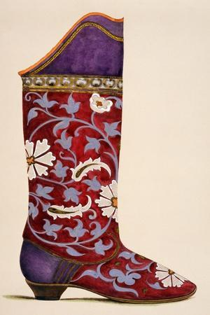 Illustration from a Portfolio of Watercolours of Shoes