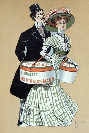 Advertisement for 'Georgette' Dressmakers in Paris, 1908