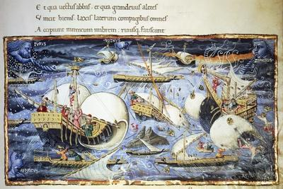 Sailing Ships, Illustration for Aeneid