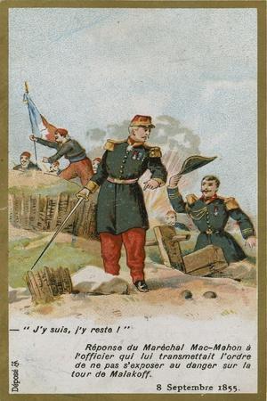 Trade Card with an Image Depicting Patrice De Mac-Mahon