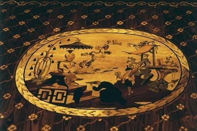 Chinese Inspired Scene, Detail from Writing Desk by Giuseppe Maggiolini