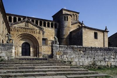 Facade of Collegiate Church of Santillana Del Mar