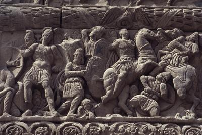 Emperor's Triumph over Persians, Detail of Relief of Arch of Galerius