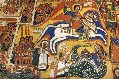 St George and Dragon, Paintings in Ura Kidane Meret Monastery