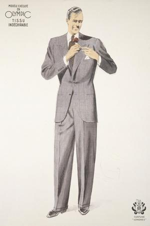 Advertisement for Olympic's 'London' Suit, 1929-30