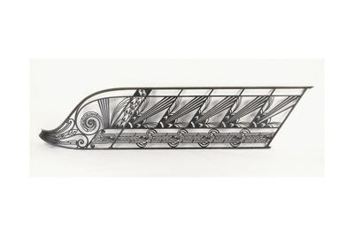 An Art Deco Staircase Balustrade Designed by Delion, C.1920S-1930S