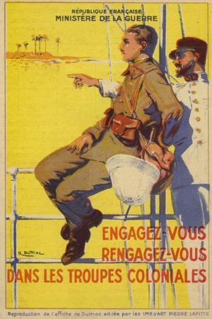 Recruitment Poster for the French Colonial Forces