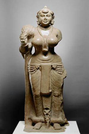 Goddess with Fly Whisk, Didarganj Patna Culture, 300 Bc