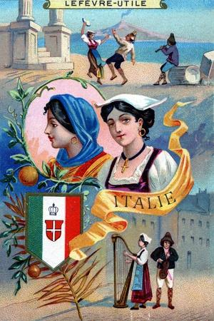 Italy, from a Series of Promotional Cards for Lefevre-Utile