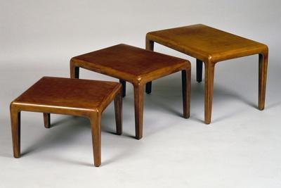Chinese-Inspired Art Deco Nest of Three Tables