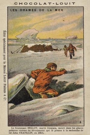 Death of Joseph Rene Bellot, French Explorer, in the Arctic, 1853