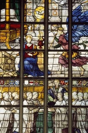 Stained-Glass Windows of Radial Choir in Grote Kerk Church