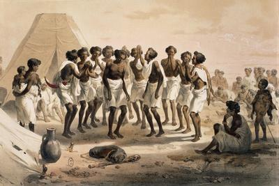 Chohos Dance, Ethiopia, Engraving from a Drawing by Jean Vignaud