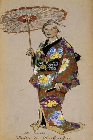 Costume Sketch for Cio-Cio San's Mother in Madama Butterfly